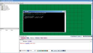 Note the main OpenRPG screen (the background) and the DOS window (foreground)