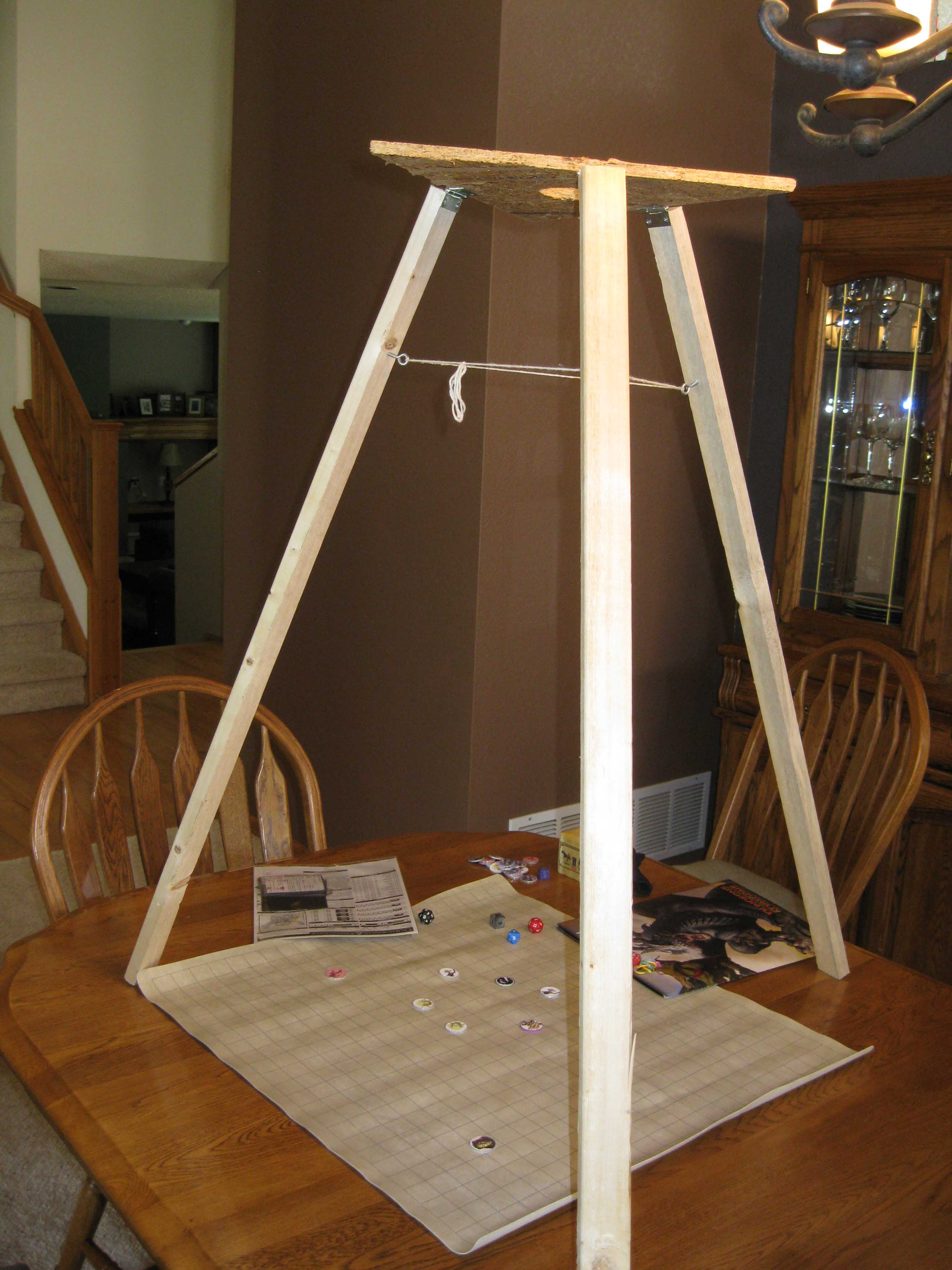 Tripod for RPG mapping projector First prototype
